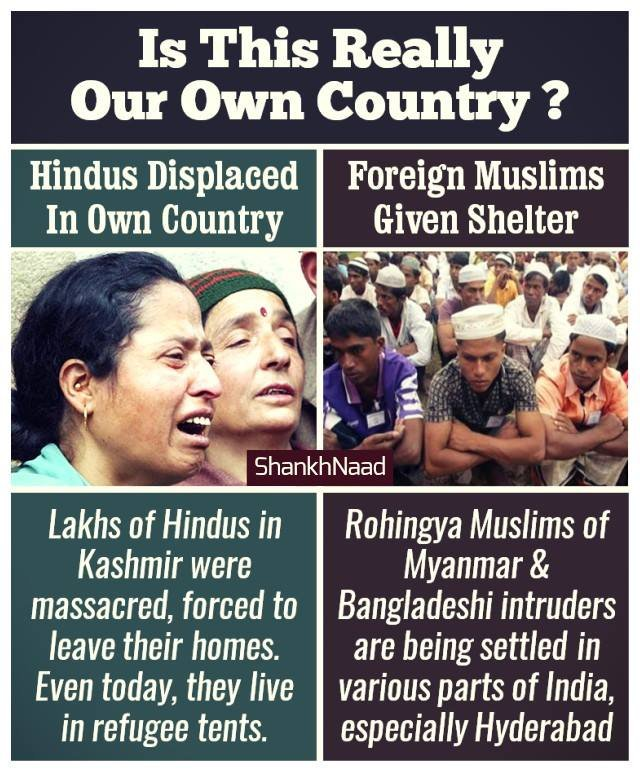 We saw protest in support of Gaza but nt a single support for #KashmiriHindus. Stories are being spread abt the plight of Palestine & Myanmar Muzlims but no one is talking abt the plight of Kashmiri Hindus. Why ? Are they not human ?  #KashmiriHindusExodus_31Yrs   @SouleFacts https://t.co/4zEuiKWCY0