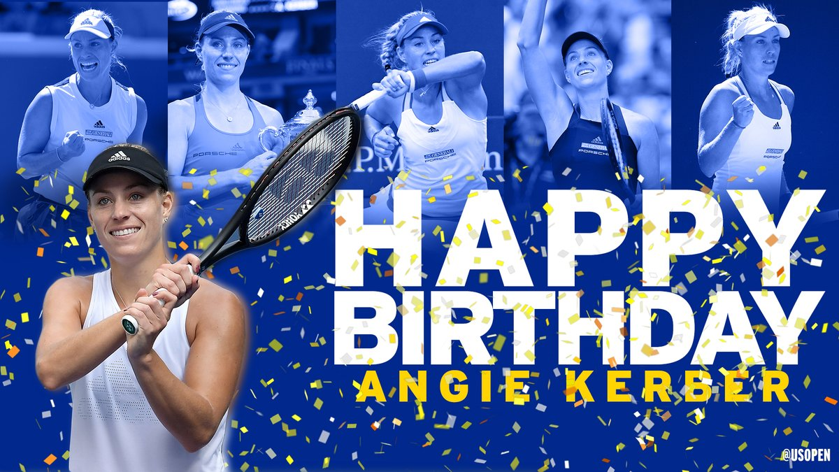 🔹Three Grand Slam titles 🔹Former world No. 1 🔹12 WTA singles titles  And today is just one more reason to celebrate. Enjoy the special day, @AngeliqueKerber! 🥳
