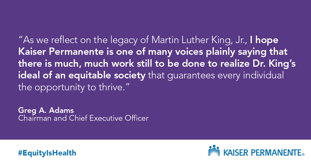 In honor of #MLKDay we're committing $8.15M to grassroots organizations that address systemic racism + end cycles of trauma for communities of color. Our work w/ @policylink will design + scale projects to address these core issues because #EquityIsHealth. https://t.co/9q5qNp4FTb https://t.co/O8rJ3X3gkc