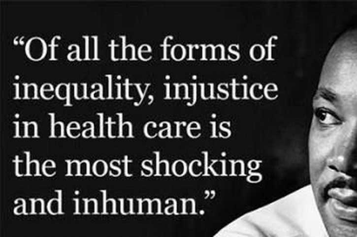 On this #MLKDay, I am shocked that this truth is as evident as when Dr. King first said it. I'm also proud of our commitment at @Regenstrief to address #healthdisparities, and improve #healthcare for people of color & the underserved. We won't stop until we have #healthequity.