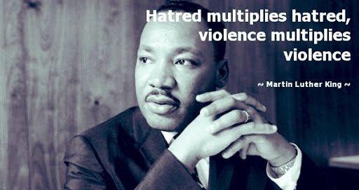 """""""El odio multiplica el odio la violencia multiplica la violencia"""". ~Martin Luther King,Jr.  #MLK#MLKDay"""