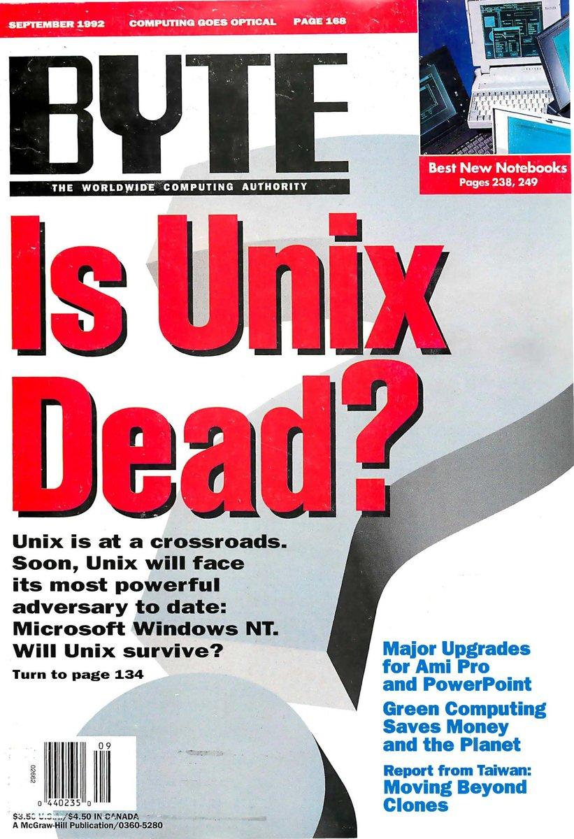 Seriously.. people compared Unix to windows NT??? #Unix #WindowsNT