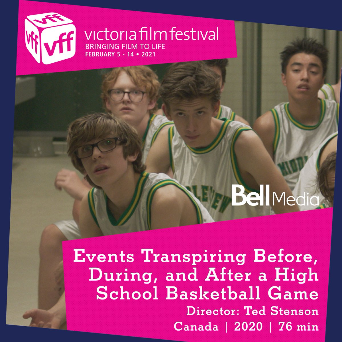 @EventsTfilm an Official Selection of the 2021 @VicFilmFestival  Capturing the zeitgeist of 1999 with an admiring nod to John Hughes' films, Ted Stenson's feature film debut is a comedic slam dunk.  🎟️:  Bell Media #VFF21  #Funny #insecurities #Nostalgia