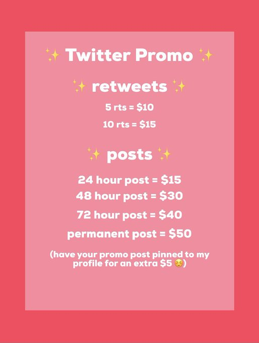 """attention SWers! i am finally offer paid twitter promo! dm me """"paid promo"""" if you are interested ☺️ https://t"""