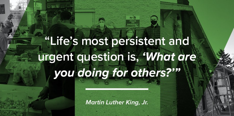 Today we honor the legacy of Martin Luther King, Jr., whose vision for a more just and equal society inspires us to imagine what is possible when we work together to serve our communities. #MLKDay