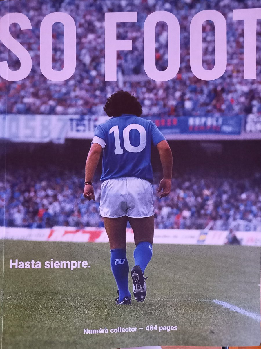 Cette couverture... 🤩🤩🤩 @sofoot #Maradona #D10S #football #press