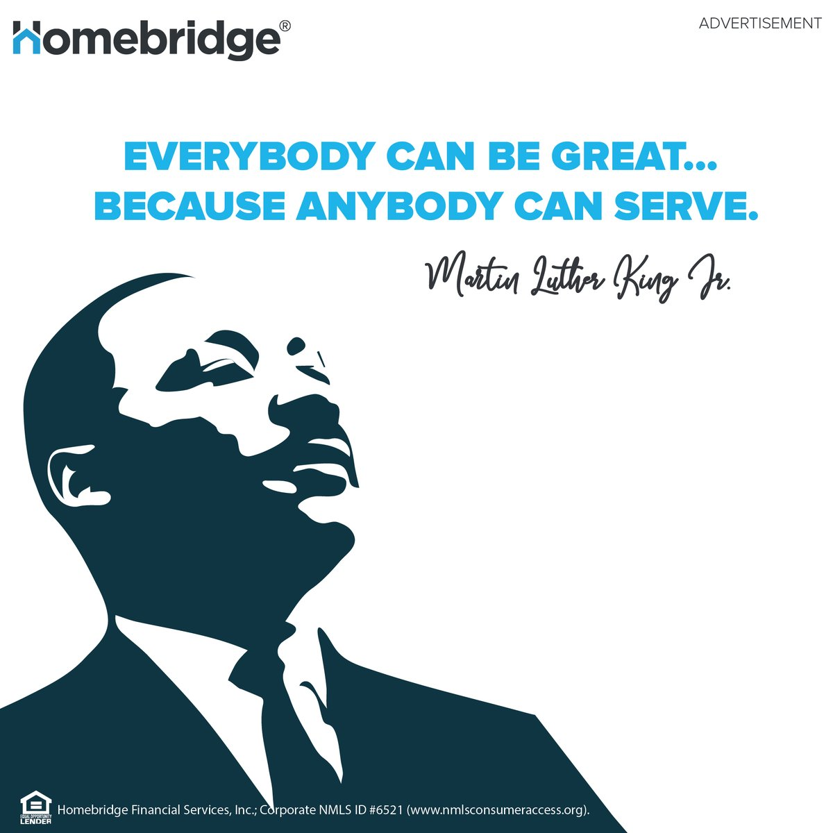 Today we remember and honor a leader who inspires us all to serve others and show kindness every day. Take time today to be of service to those in your community!  #MLKDay