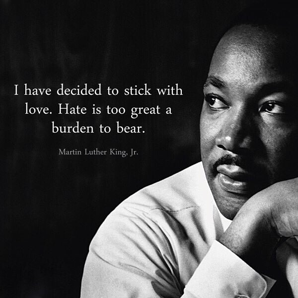 If there's anything we can learn from MLK it's to lead with love in EVERYTHING we do. The only way to drive out hate is to love ❤️ #happymlkday