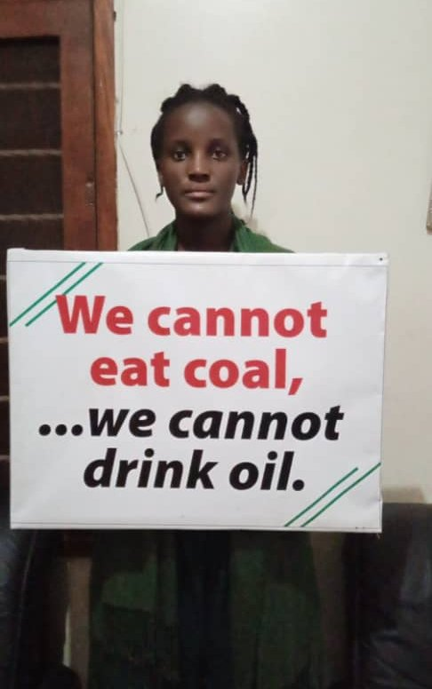The climate crisis doesn't go during internet shutdown!  We are back stronger to demand for the future that rightfully belongs to us. We cannot eat COAL. We cannot drink OIL #schoolstrike4climate #FridaysForFuture