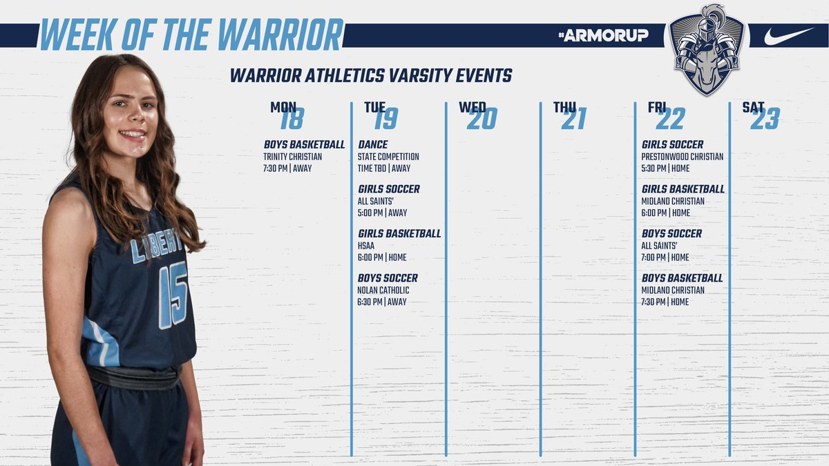 This Week in Varsity Athletics!!  #ARMORUP | #FORHIM