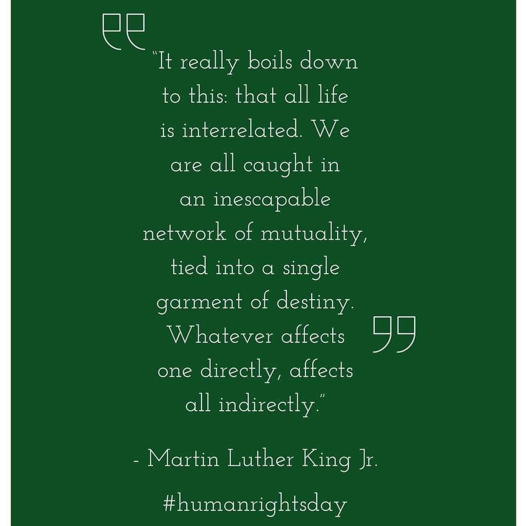 #AlwaysBeKind #HumanRightsDay #MLKDay2021
