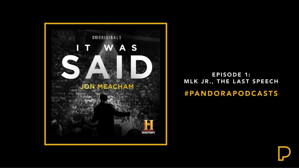 """At a crossroads of American racial & economic injustice, Dr. Martin Luther King Jr. traveled to Memphis to address the nation with a fearless message. Check out """"Ep 1: MLK Jr., The Last Speech"""" from the limited documentary podcast series, '@ItWasSaidPod.'"""