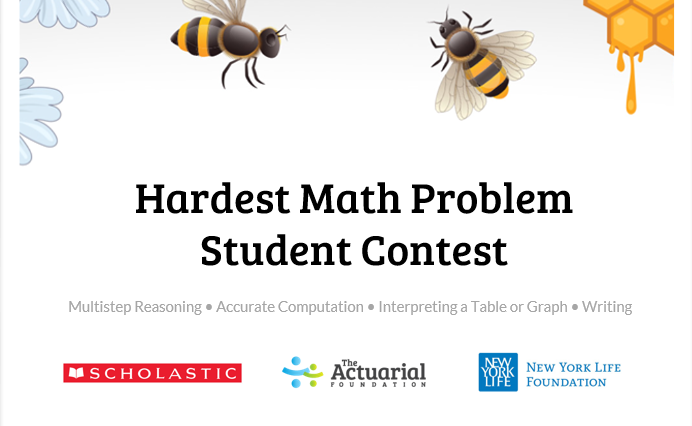 Did you know The Hardest Math Problem Students Contest awards students and teachers prizes? Teachers can win $500 gift cards, and students can win $5,000 for a 529 college savings plan, plus a laptop!  #math #student #contest