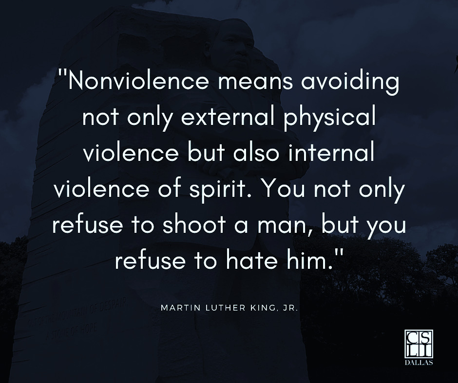 In honor of our great national hero and brother in Christ, Dr. Martin Luther King, Jr, we wanted to spend this week highlighting some of his quotes that continually challenge us in our discipleship. #csli #cslidallas #MLKDay2021  #MLKJr  https://t.co/buBeAmKz7C https://t.co/10M9ptfpUS