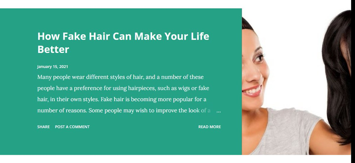 How Fake Hair Can Make Your Life Better 🤩 Why Celebrities Use Fake Hair?   #fake #hair #HairTwitter #fakehair #lifestyle #better #celebrities #blog #blogger #Writer #writing #SaturdayMorning #SaturdayMotivation #SaturdayThoughts #WritingCommunity   Link: