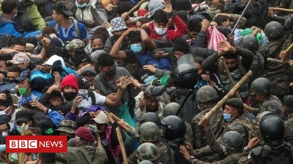 Migrant caravan: Guatemala blocks thousands bound for US: More information, including tags, linkers, tweeters and related docs on Serendeputy.