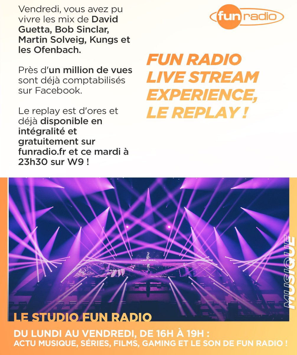 Le Studio Fun Radio revient demain de 16H à 19H avec @JBFunRadio @justinehollman et @JulienTellouck 👉 découvrez les 4 infos de l'émission du jour ♥️