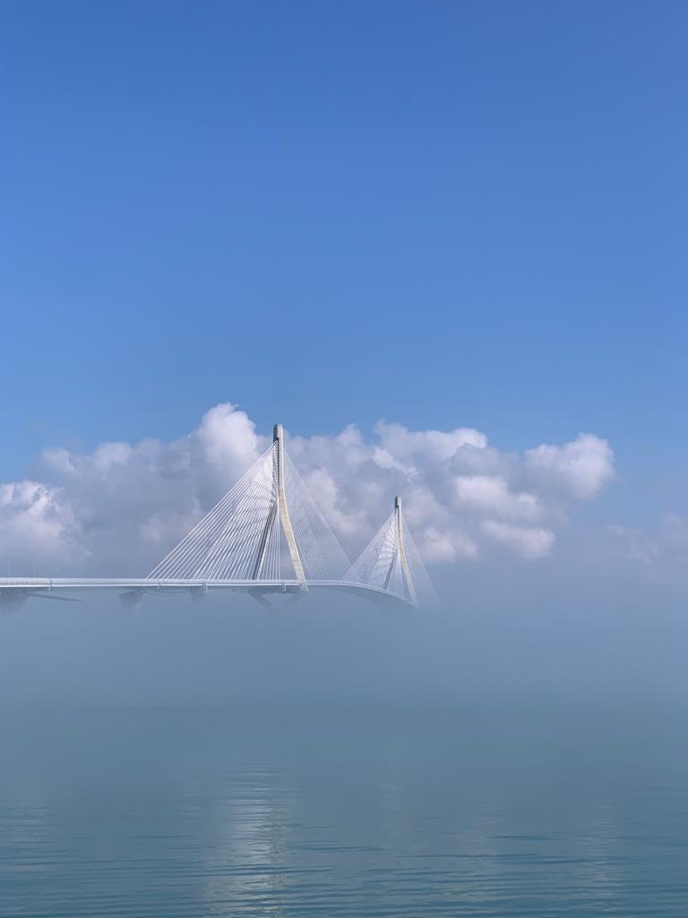 La niebla esta mañana en la Bahía de #Cádiz