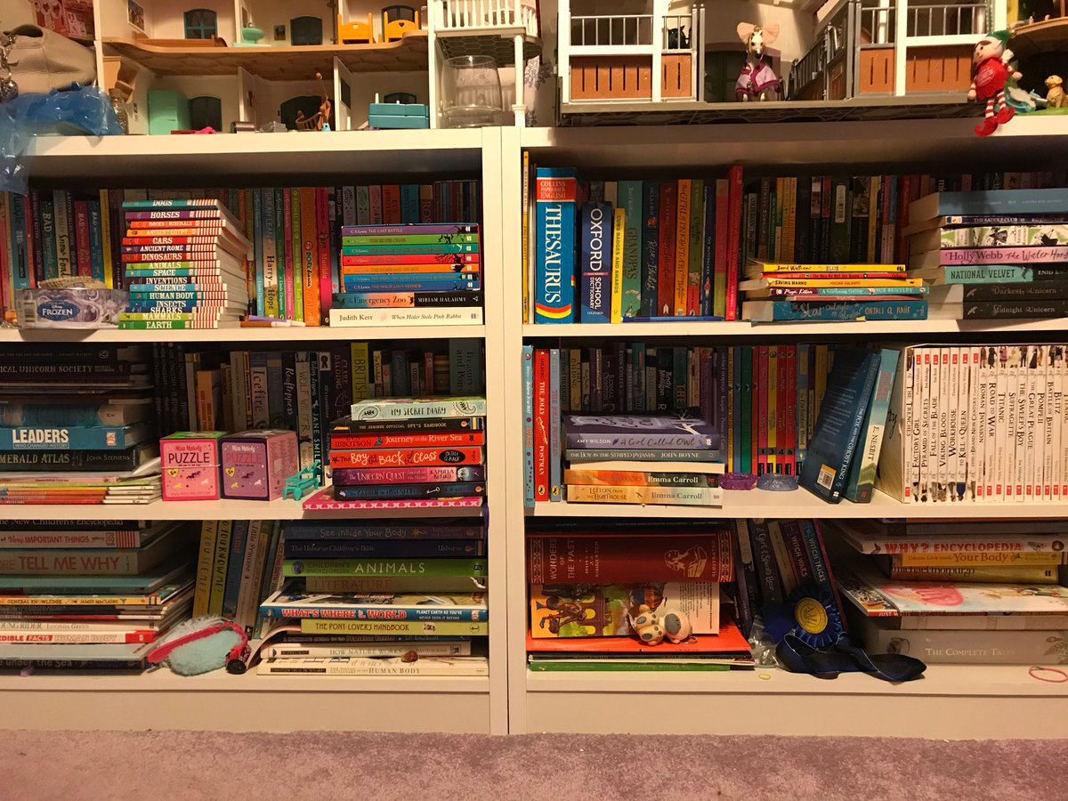 There's no such thing as too many books, right? #BookWorm #booklover #lovetoread #childrensbooks #nevertoomanybooks #bookshelf #bookstoread
