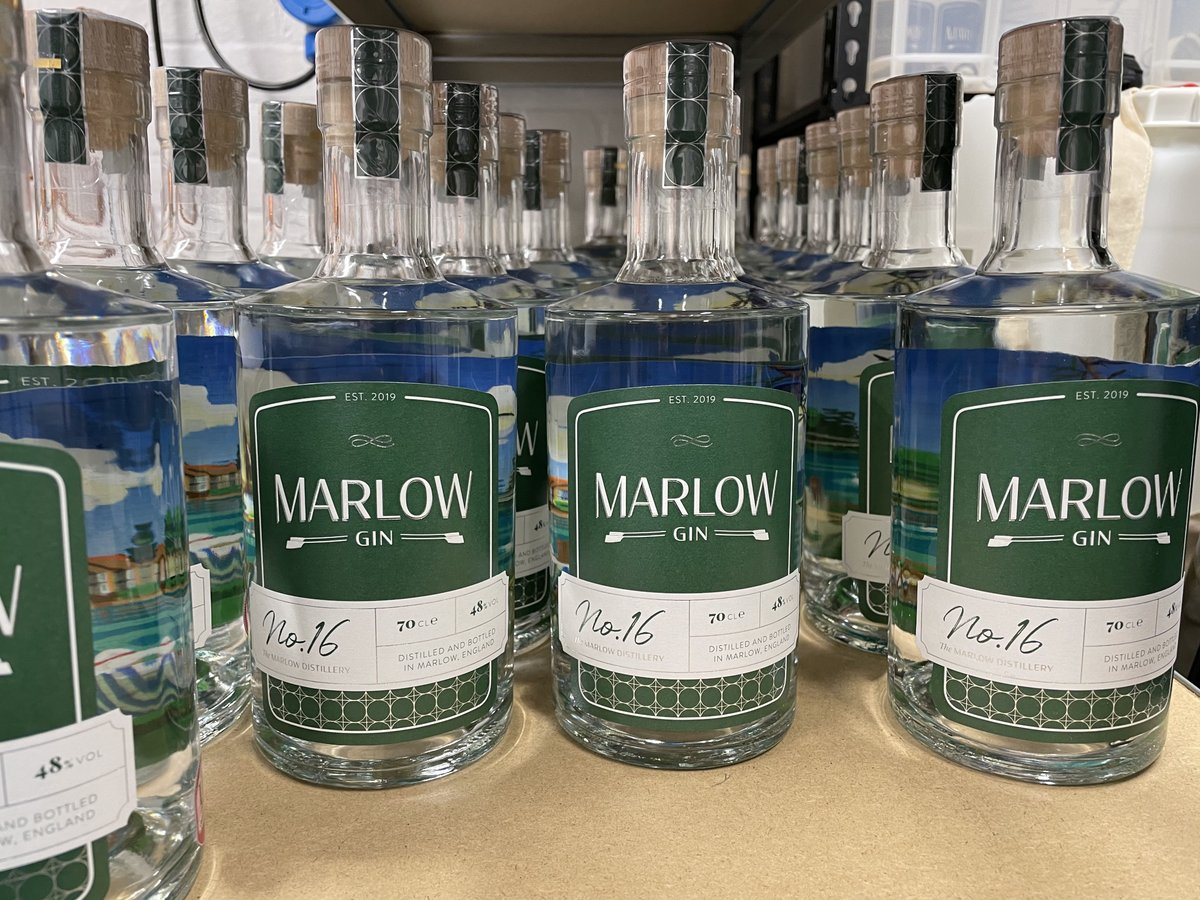 Great photo of our No.16 - lined up ready for action. Order through our on-line store for delivery. #marlow #buckinghamshire #gin #gindistillery #gindistillery