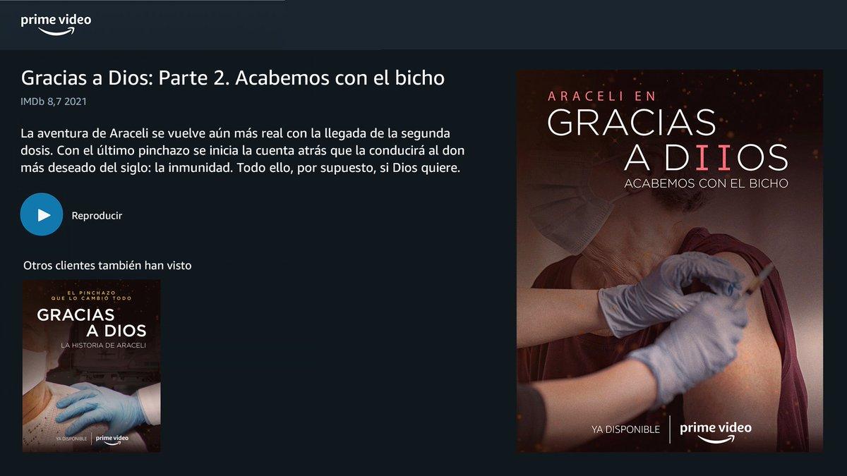 Lo habéis pedido y aquí está. Hoy estrenamos la segunda parte de 'Gracias a Dios', el biopic inspirado en la historia de Araceli.