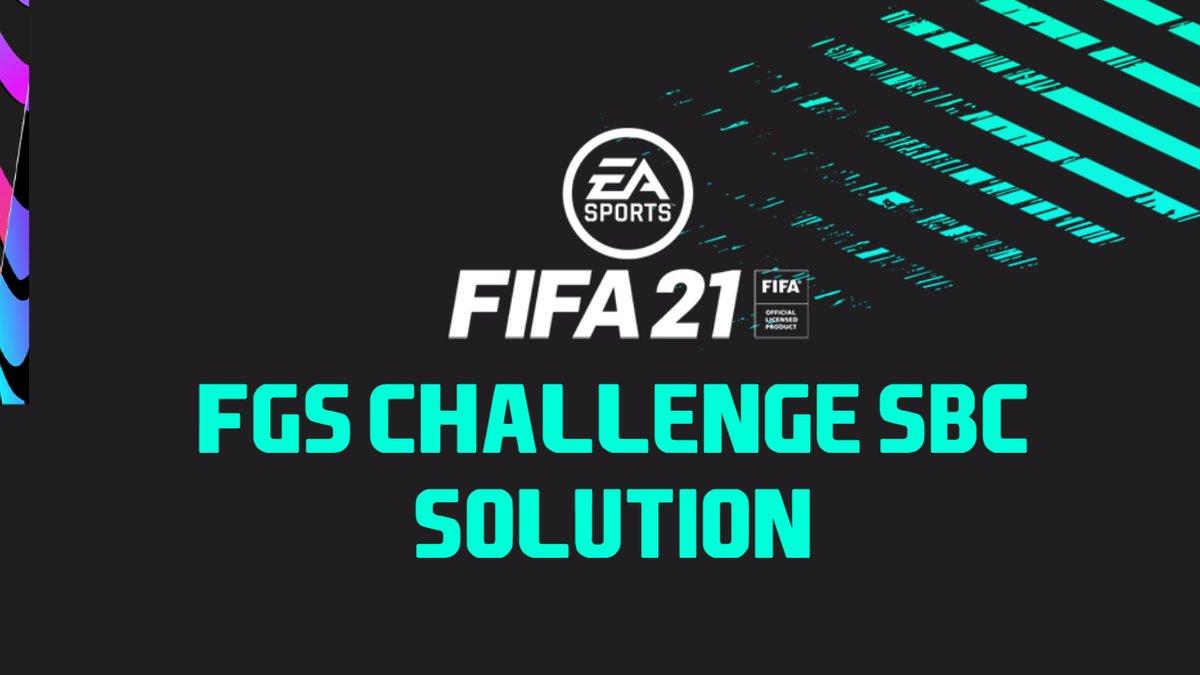 FGS Challenge SBC - CHEAPEST METHOD!!! |FIFA 21  via @YouTube #FIFA21 #FUT21 #FUT #FGS21 #FIFAGlobalSeries