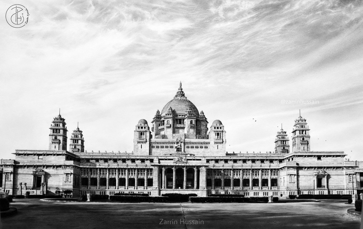 History Repeats!  📍UMAID BHAWAN PALACE📍 Graphite and charcoal on paper 7000+ sandstones approx. Duration: 700 hrs approx. (Free hand, no measurement tools). Size: 40×60cm @TajHotels @lonelyplanet_in  #umaidbhawanpalace #rajasthan #artwork