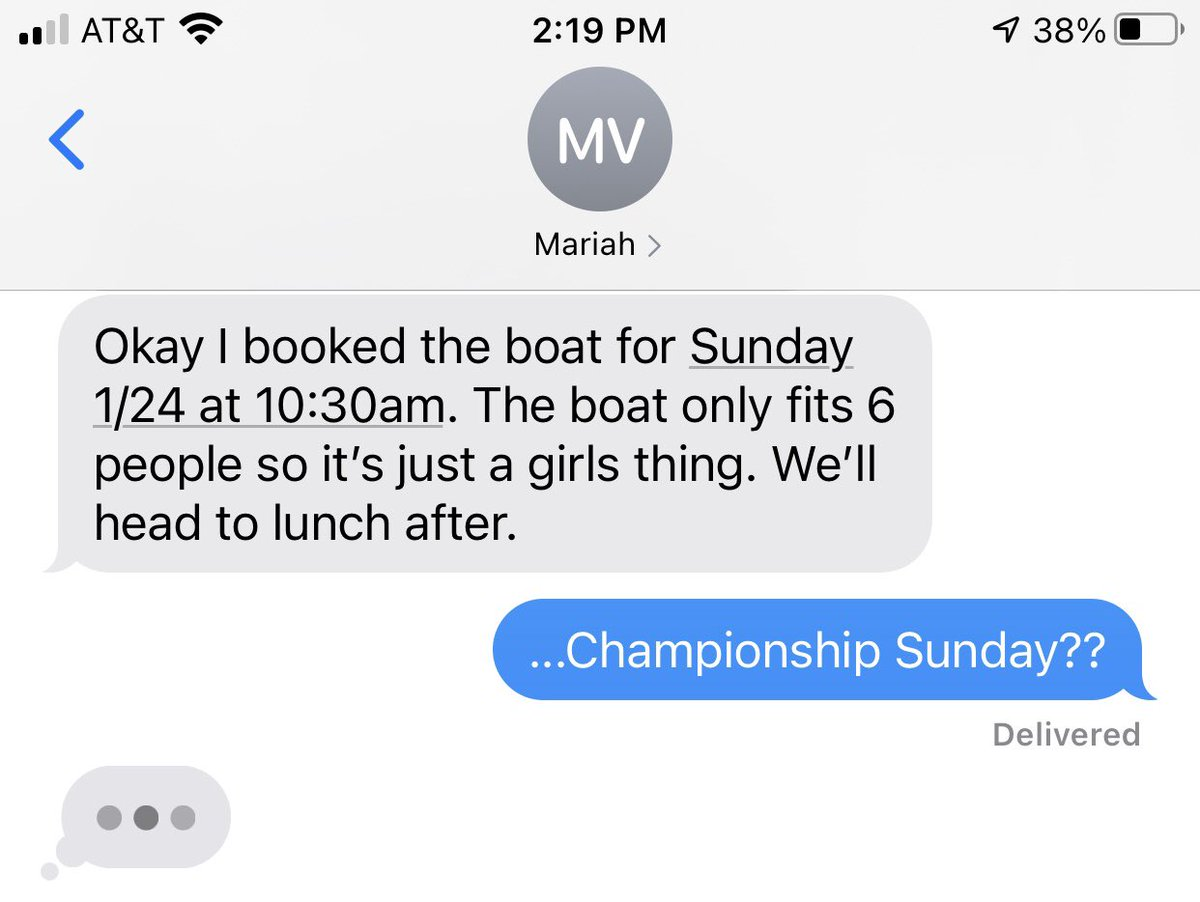 Do you think I'll get cell reception on the water? 🤦🏻♀️ @mariahvitoria9