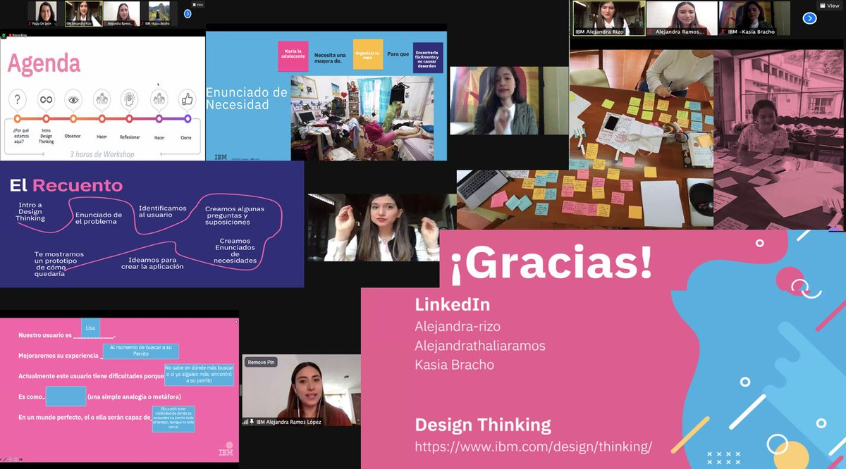 Thanks #IBMVolunteers @dvyjpem Ale Rizo & Ale Ramos for facilitating the Design Thinking workshop for the @PTECHNETWORK #girls participating in @Technovation_MX #WomenInSTEM #WeArePTECH #GoodTechIBM looking forward to see the amazing results of this project!