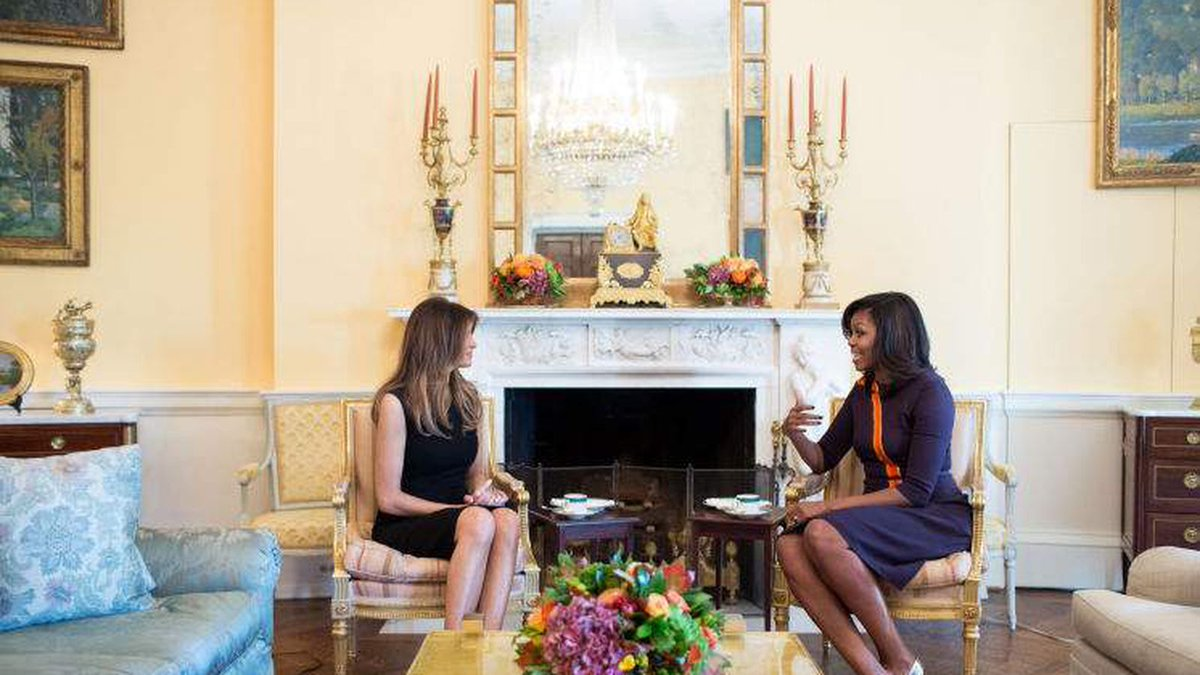 Michelle Obama graciously hosted Melania Trump at the White House immediately after 2016 election to ensure a smooth transition.   Melania Trump has done absolutely nothing for Dr. Jill Biden.   Some people are givers, others takers: https://t.co/lBYWe32wkR