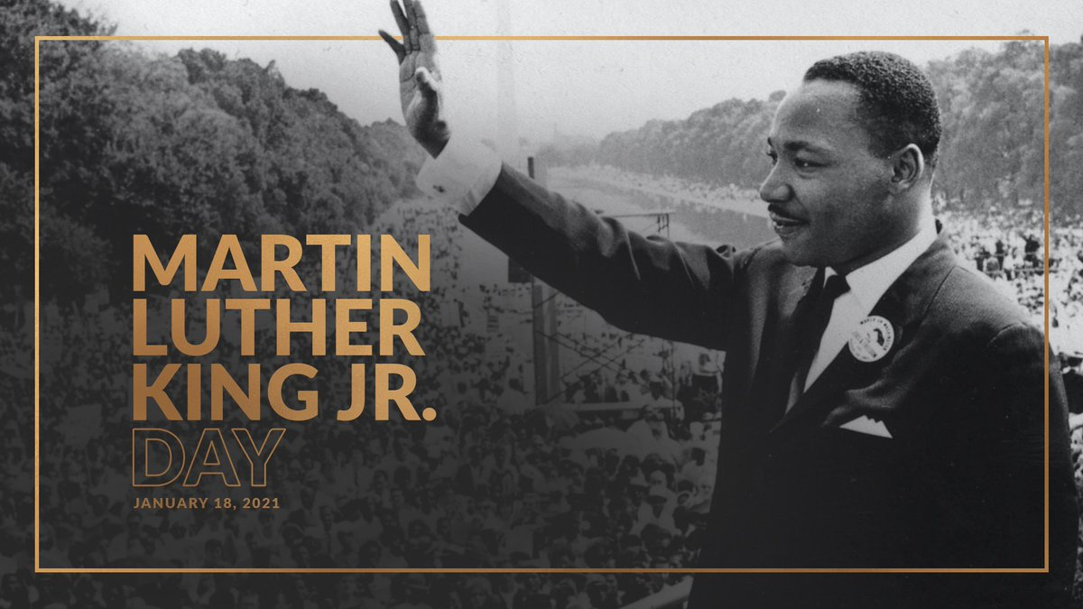 """""""Darkness cannot drive out darkness; only light can do that. Hate cannot drive out hate; only love can do that.""""  Today, we celebrate the life and legacy of Dr. Martin Luther King Jr. Now more than ever, we must strive to follow his example."""