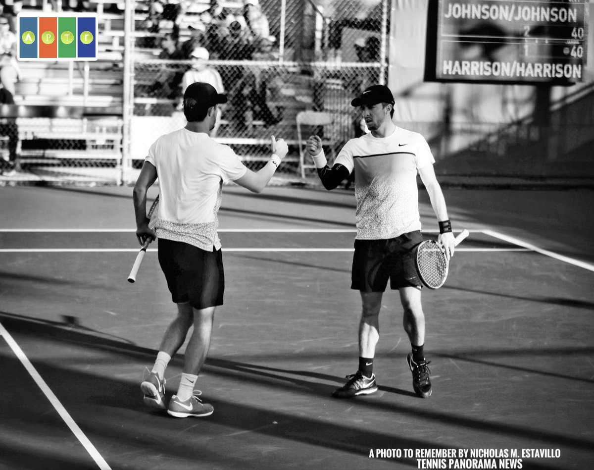 Last minute replacement for Isner/Hurkacz & @YatesJohnson8 @hunter_johnson7 gave fans an exciting tennis match vs the Harrison brothers...losing 4-6, 6-7(2).  IG: a_photo_to_remember for pics from the tournament (for @TennisNewsTPN)  #DBOpen2021 #DelrayBeachOpen  #DBOpen #DBO2021 https://t.co/GR6RAG0NJc