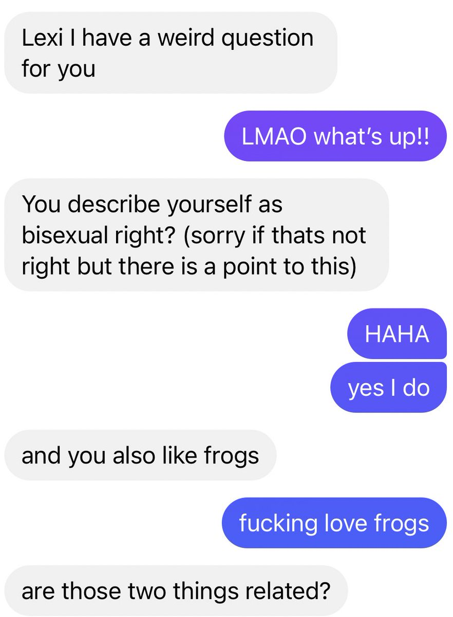 Replying to @perfectcows: incredible conversation with my straight male friend