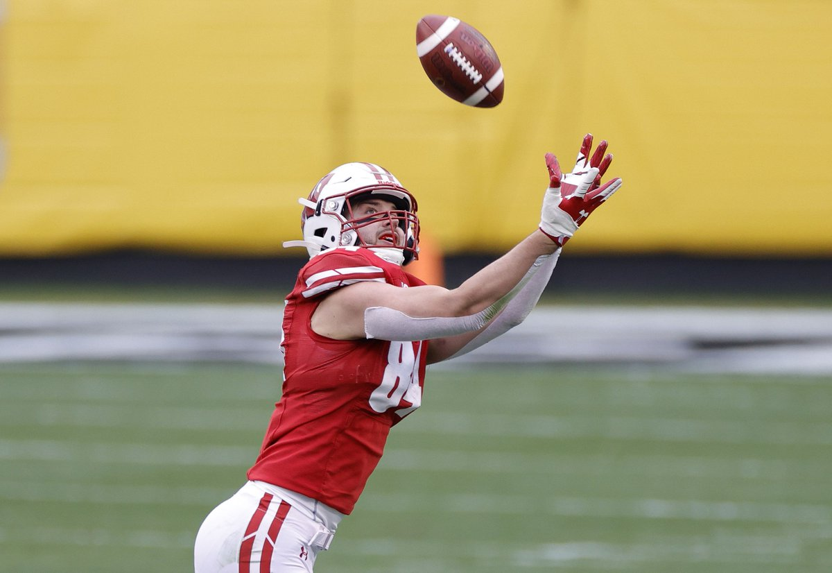 #BarrysGrandson led the team in most receiving categories last year, and he is back. Add in a full-offseason for the younger players at the position, and the tight end room looks solid for 2021.    Wisconsin football 2020 review/2021 preview: tight ends
