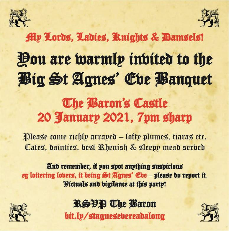 test Twitter Media - Still time to join the #keats200 celebratory read through of his classic poem The Eve of St Agnes. Book your place now at The Baron's Banquet! 20 Jan 7pm GMT. Dressing up in lofty plumes optional. All welcome https://t.co/FuWfUiT3Eh #romanticpoetry https://t.co/7R4wmpk49a