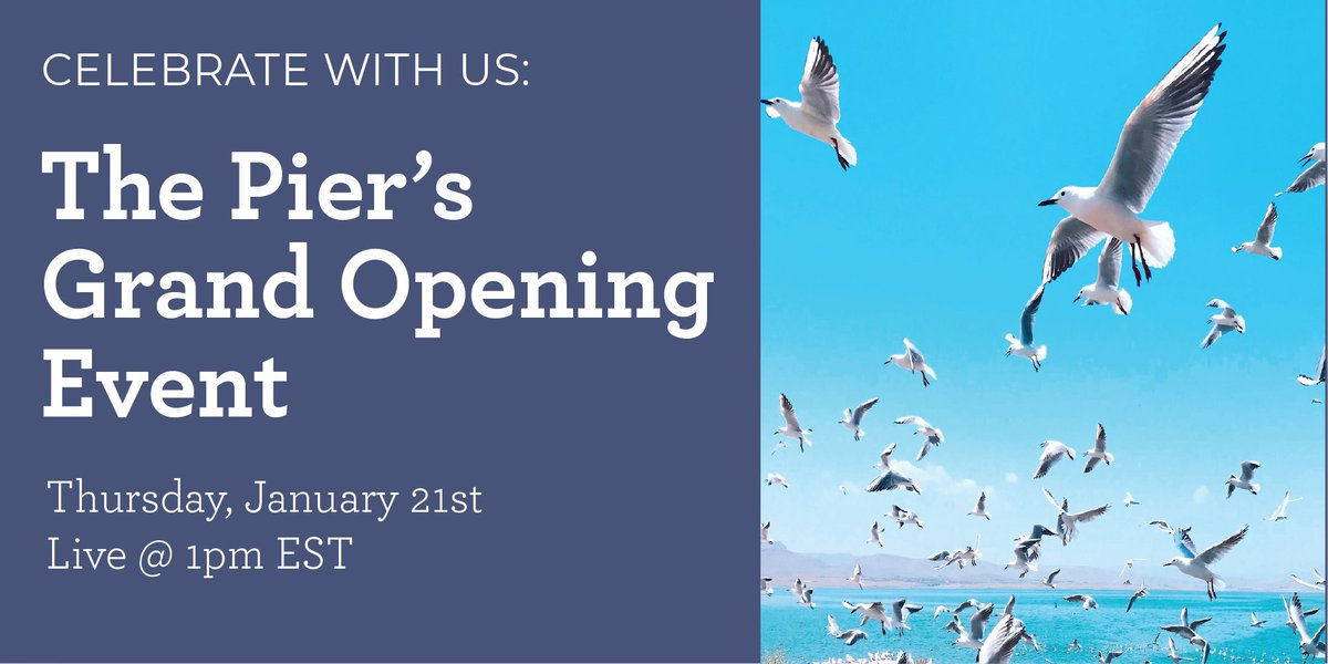 Soar with us!  Join Laridae's CEO, Danielle Rocheleau, and Founder, Jonathan Bennett, for a fun, 1-hour session to mark the Grand Opening of The Pier, the learning network for non-profit leaders.   Register today and get a 30-day free trial: https://t.co/L8ELA8upui https://t.co/kVJ97jlYdN