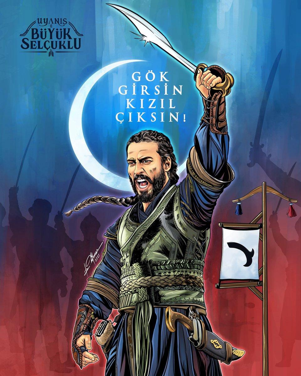 """""""Gök girsin kızıl çıksın!"""" #UyanışGünü #UyanışBüyükSelçuklu @TRT1   🖋️ @_RamazanTurkmen"""
