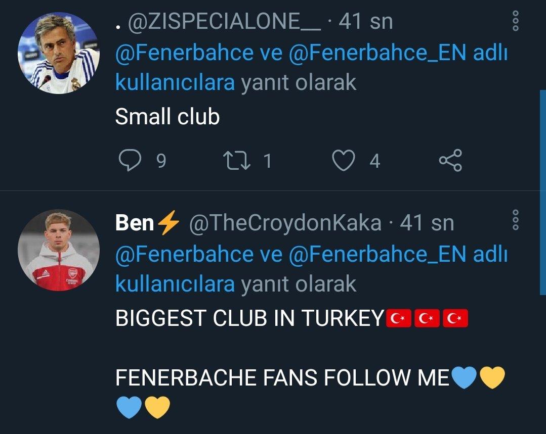 """@MesutOzil1088 , geçtiğimiz günlerde sosyal medya hesabından yaptığı #AskMesut etkinliğinde """"Tottenham'da asla forma giymem"""" demişti.  Etkisi hayli yüksek olmuş ki, Tottenham taraftarı, @Fenerbahce 'nin attığı her twitin altına yazılar yazıyor 🤭   Ada rekabeti buraya taşındı 🇬🇧"""