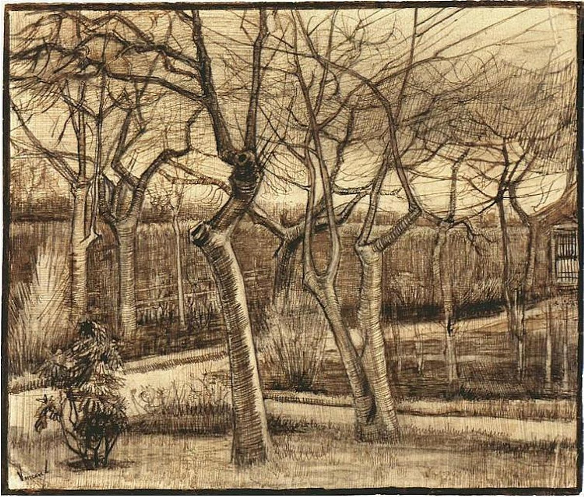 Replying to @vangoghartist: The Vicarage Garden, 1884 #vangogh #vincentvangogh