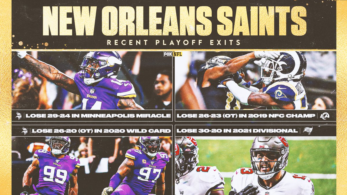 It's been a tough go in New Orleans throughout recent postseasons