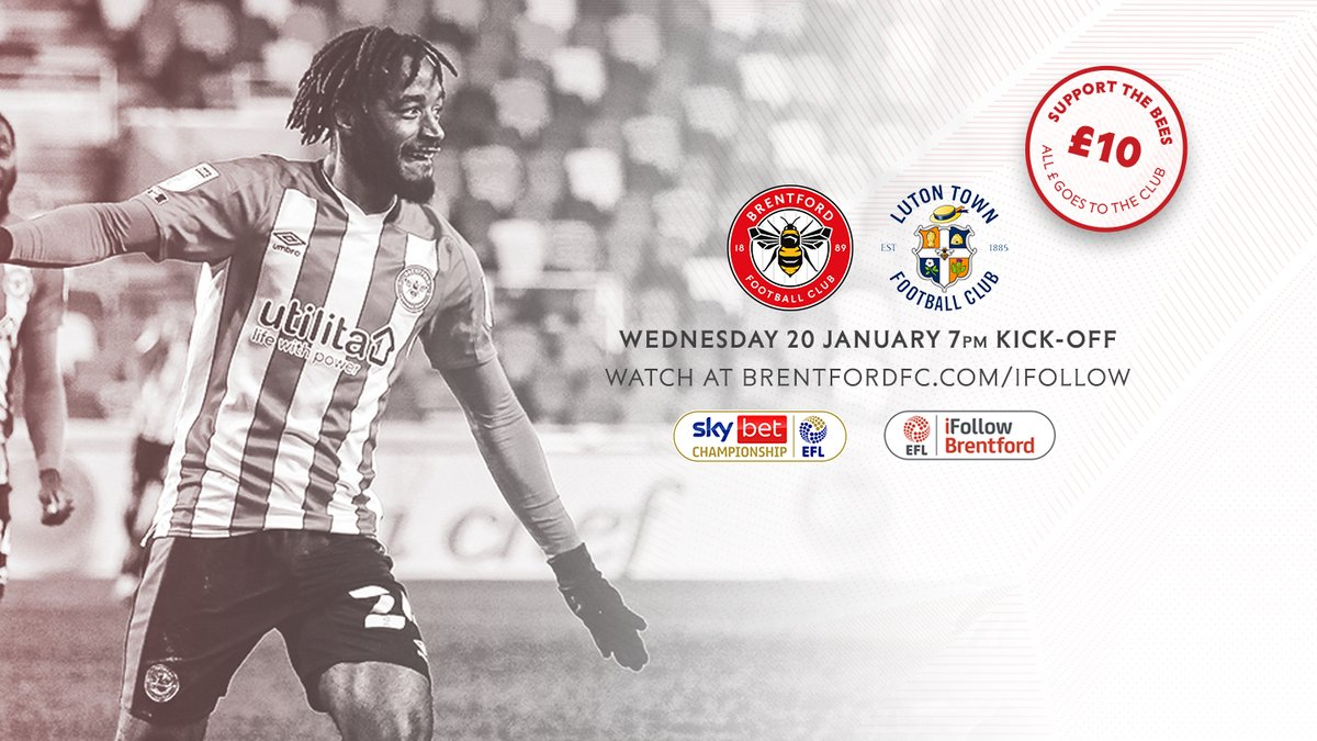 📺 Catch all Wednesday's action on @iFBrentford  Frozen Season Ticket and Premium Seat Members get the game for Free  Match Passes are also available 👉 https://t.co/9DDDQkHhwz  #BrentfordFC #BRELUT https://t.co/Ixq4WeeDKw