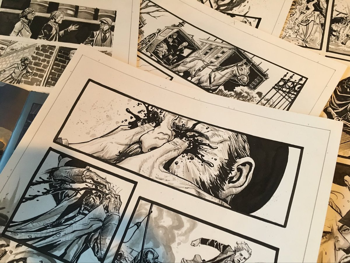 Pile of art from my Mycroft Holmes run at @ComicsTitan
