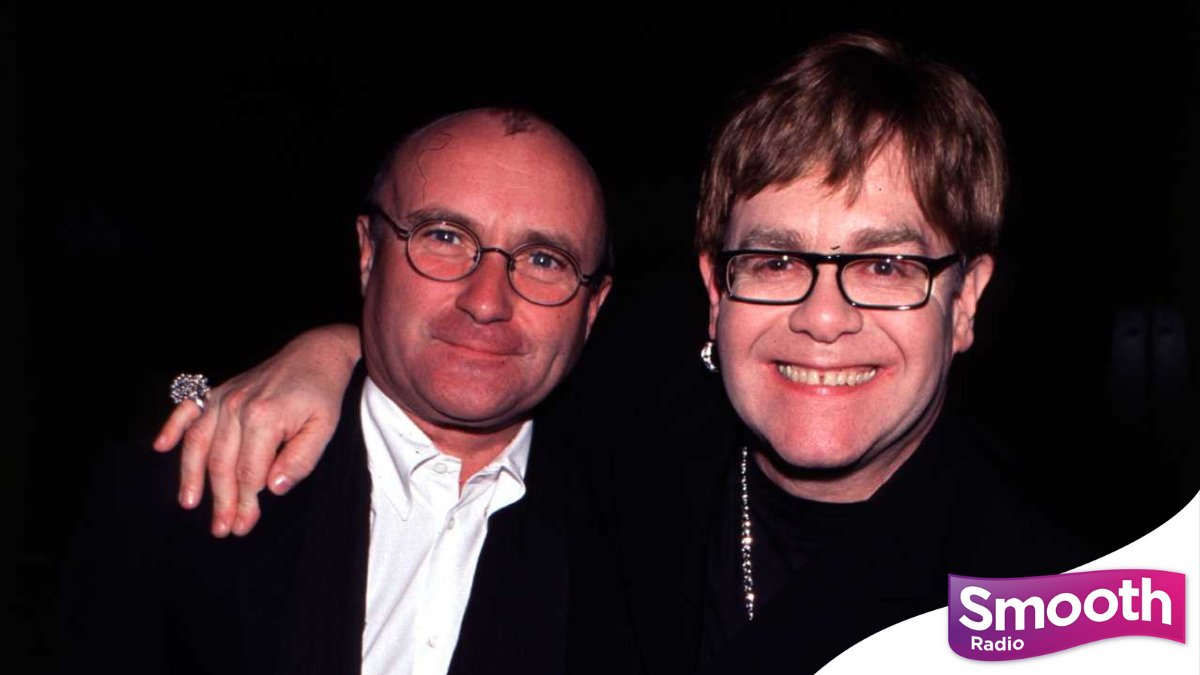 .@eltonofficial and @PhilCollinsFeed at an awards ceremony in 2000. 📸  There's music from both of these music legends on the way in tonight's Smooth Sanctuary at 7. Listen here 👉 https://t.co/16dsElLilw https://t.co/mlhPsEWX19