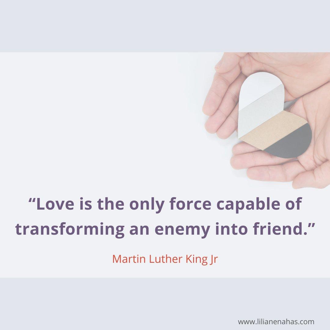 #MartinLutherKingDay #love #Healing #friends #psychotherapist #MentalHealthMatters #kindness #MondayMotivation