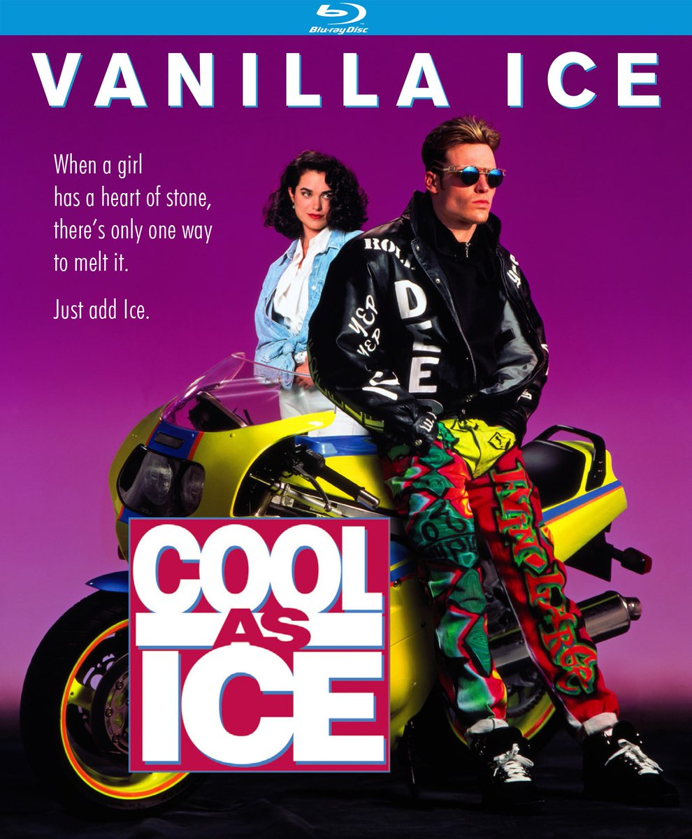 Coming May 4th!  Cool as Ice (1991) • Audio Commentary by Film Historians Alexandra Heller-Nicholas and Joshua Nelson • Theatrical Trailer • Optional English Subtitles  Directed by David Kellogg (Inspector Gadget).