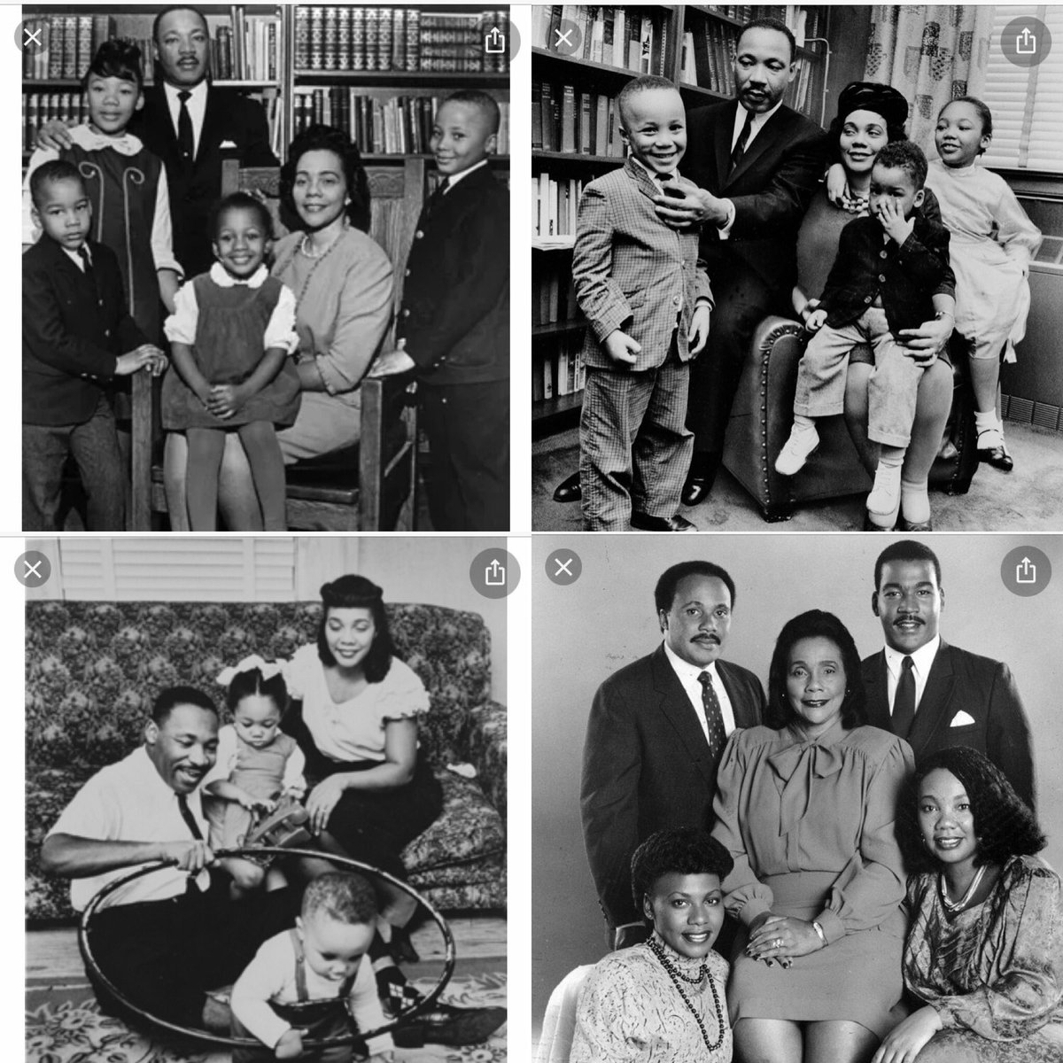 """#MLKDay #CorettaScottKing There's a reason why they say """"Behind every great man is a wonderful woman!"""" We pray together they both are resting in eternal peace And we thank them always for leading the way... ✝️💜#CivilRightsMovement"""