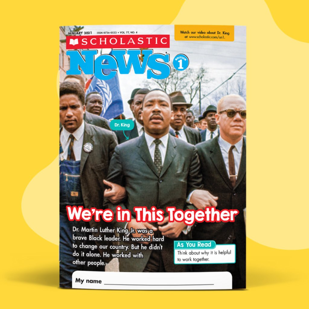 Help students understand the legacy of Dr. Martin Luther King Jr. and how his brave leadership brought people together: