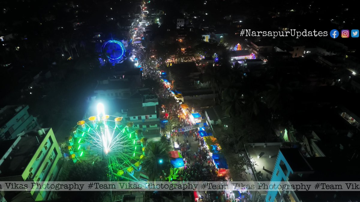 Ahaa... what a splendid view from the top. Pc: @team_vikas_photography #NarsapurUpdates #narsapuram #India #andhrapradesh #droneshot #exhibition #people #nocorona #Indianfestival #sankranthi #bihu #lohri #aerialview  #dji #phi #oph  #westgodavari #godavaridistricts #telugupeople