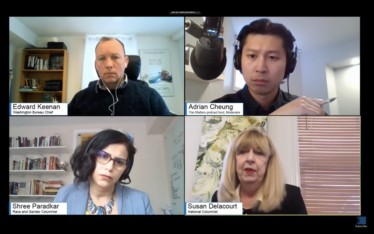 ICYMI live: @TorontoStar's panel on US politics/#InaugurationDay is here in full   @ShreeParadkar, @SusanDelacourt & @thekeenanwire talk about the Trump years, what Biden means for the Canada-US relationship & the fights over race, culture and reality