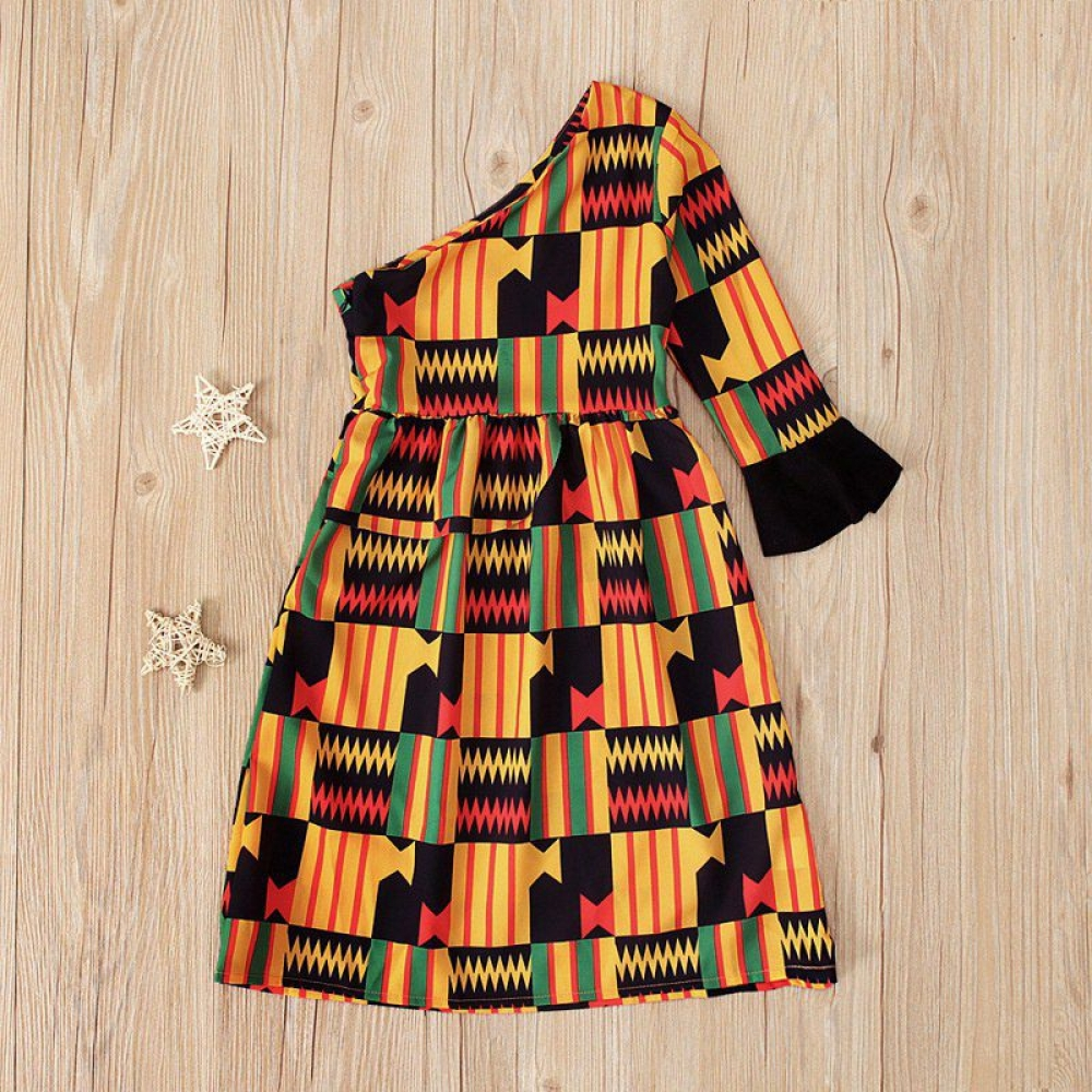 Girl's African Print Dresses Set #babyshop #bebe #sweet